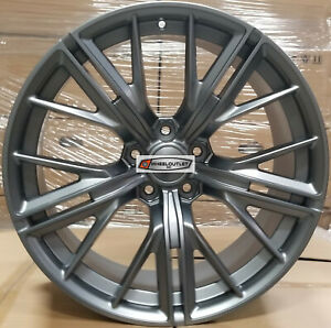 20 New Zl1 Style Wheels Gunmetal Stagger Rims Tires Fit Chevy Camaro Rs Ss Ls