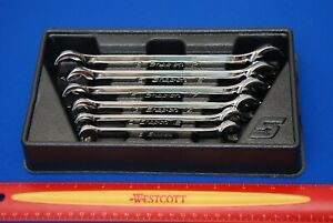New Snap on 6 Piece 6 point Metric Double End Flare Nut Wrench Set Rxfms606b