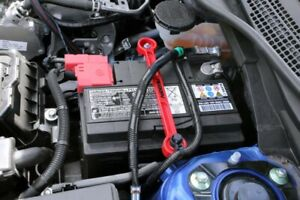 Perrin Performance Red Battery Tie Down For 2017 2019 Honda Civic Type R Fk8