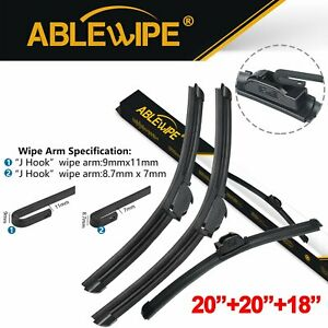 Ablewipe Fit For Mitsubishi Eclipse 1994 1993 Windshield Wiper Blades Set Of 3