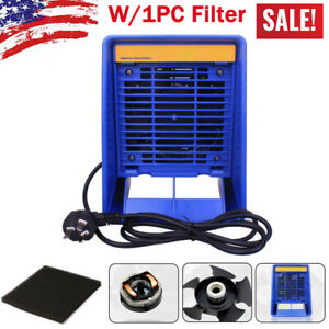New Soldering Iron Smoke Absorber Fume Extractor With 1pc Filter Kit Us