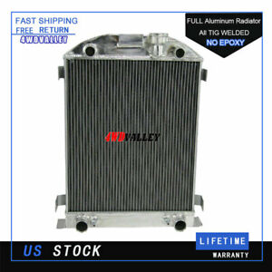 4 Row Core Aluminum Radiator For 1932 Ford 32 Stock Height Flathead V8