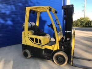 2014 Hyster S50ft Warehouse 5000lb Forklift Lpg Low Hour Tall Lift
