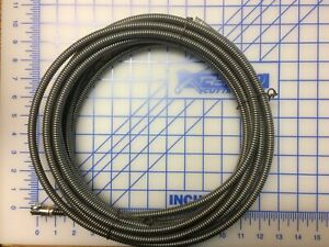 Drain Cable 3 8x 25ft Left Wound Steel Core With Slotted End general Style