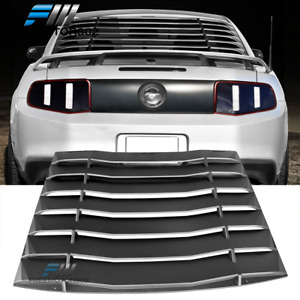 Fits 2005 2014 Ford Mustang Ikon Style Black Rear Window Louver Rain Sun Guard