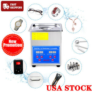 2l Professional Digital Ultrasonic Cleaner Machine With Timer Heated Cleaning Us