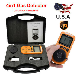 4 in 1 Gas Detector Co O2 H2s Oxygen Meter Lel Gas Monitor Test Analyzer