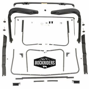 Replacement Factory Soft Top Hardware Kit With Sunrider 1997 2006 Jeep Wrangler