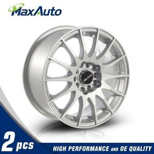 2 X Silver 15x6 5 5x100 5x112 73 1 38 Mm Wheels Rims For Chevy Corsica Cavalier