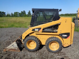 2015 Caterpillar 226b3 Skid Steer Cab heat air Hyd Qc Auto Level 1 801 Hours