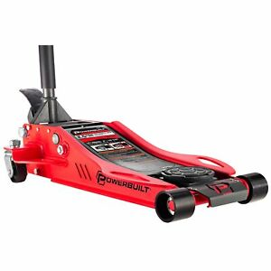 Powerbuilt 2 5 Ton Low Profile Fast Lift Floor Jack 3 In To 19 5 In 240076