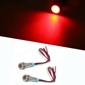 2pcs Ultra Small Cafe Racer Motorcycle Red Led Brake Running Tail Lights
