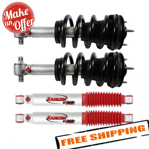 Rancho Front Quicklift Struts Rear Shock Absorbers For Gm Silverado Sierra