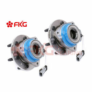 Pair Rear Wheel Hub Bearing 6 Lugs For Cadillac Srx Sts V With Abs 512243x2