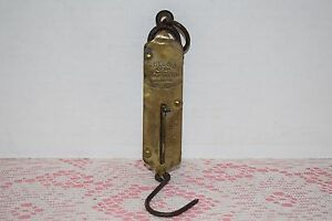 Brass Scale Vintage Excelsior Improved Spring Balance Scale Collectible