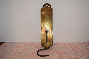 Brass Scale Vintage Landers Improved Spring Balance Warranted Scale Collectible