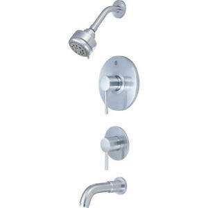 Pioneer 4mt100t ss One handle Tub shower Trim Set W Diverter In Stainless Steel