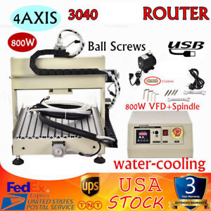Usb 4axis Router Milling Drilling Engraving Machine 3040 Metal Cutter 800w Vfd