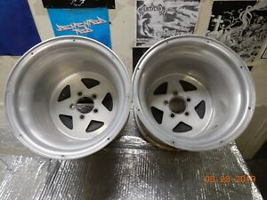 15x13 Monocoque Drag Racing Wheels Ford Mopar 5 On 4 1 2 Slicks Centerline