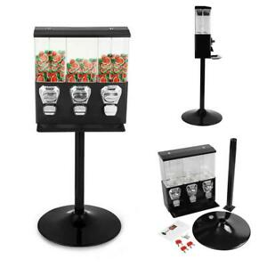 Triple Bulk 25 Cent Gumball Candy Vending Machine Candy Dispenser Canisters