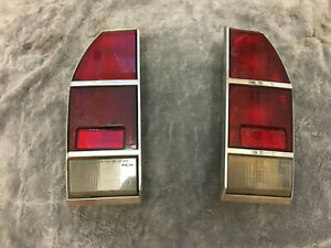 Fiat 124 Sports Coupe 1600 Rare Tail Lamps Parts Not Tested Lenses Estate