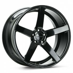4 New 20 Staggered Vossen Cv3r Black 5x120 For Chevy Camaro Lexus Ls460