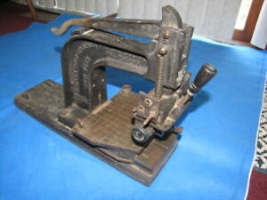 Vintage Simplex Gold Stamping Press Simplex Gold Stamping Co Inc New York
