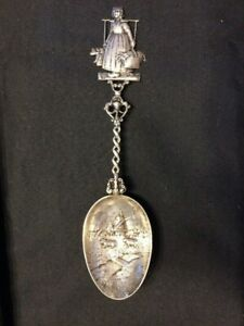 Marshall Field And Company Antique Sterling Silver Dutch Figural Spoon Chicago