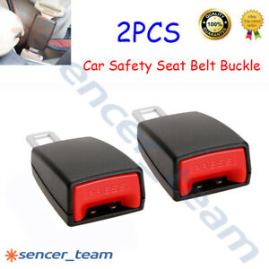 2pcs Car Safety Seat Belt Extension Buckle Extender Clip Alarm Stopper Universal