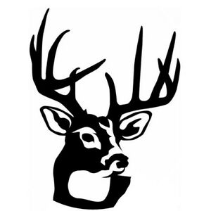 Car Window Decal Truck Outdoor Sticker Hunting Hunt Buck Deer Head
