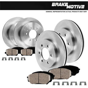 Front Rear Rotors Ceramic Pads For 2001 2002 2003 2004 2005 2006 2007 Montero