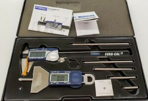 Fowler Xtra value Depth Gage And Euro cal Iv Measuring Set