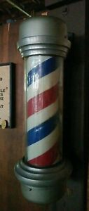 Vintage Non Reproduced Wall Hanging Barber Shop Pole In Great Condition