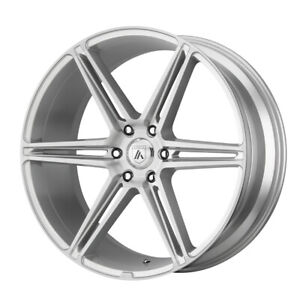 22 Asanti Black Alpha 6 Silver abl25 22106330sl Set Of 4 Wheels Rims