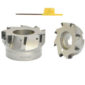 90 Degree Indexable Face Mill Cutter Use Apmp Apkt Cnc 4 X 1 1 2 Inch 8 Flute