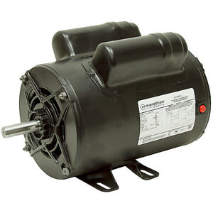2 Hp 115 230 3450 Rpm Marathon Air Compressor Motor 10 2619