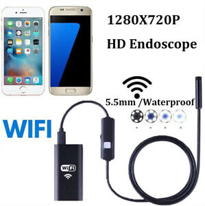 For Iphone Android Ios Pc 5 5mm Wifi Borescope Endoscope Snake Inspection Camera