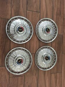 Rare Vintage 1962 Ford Galaxie Hubcaps Wheel Covers Oem