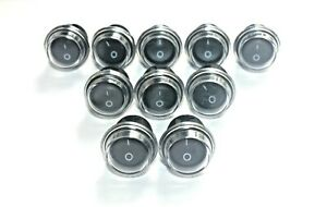 10x Rocker Switches 12v Round Toggle On Off 12 V Car Snap In Switch Waterproof