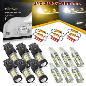 3157 T10 High Power Cree 60w Front Turn Light Amber White reverse W Resistor