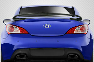 10 16 For Hyundai Genesis Coupe 2dr Carbon Fiber Sqx Rear Wing Spoiler 113424