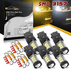 3157 4114 High Power Cree 60w Front Turn Light Amber White With 6ohm Resistor X6