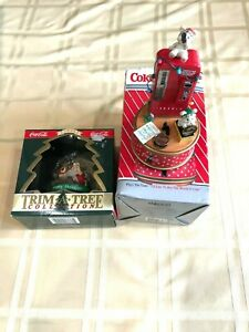 Two Piece Coca-Cola Mini Action Musical Enesco Corp. and Trim-A-Tree Ornament