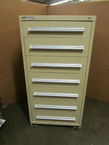Stanley Vidmar 59 x30 x27 3 4 7 Drawer Heavy Duty Tool Parts Storage Cabinet 4