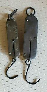 Antique Store Spring Balance Hanging Scales Lot Of 2 Circa 1900 40 S Free Ship