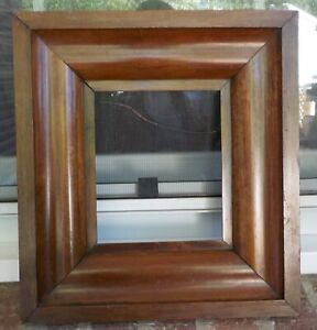 Antique Federal Ogee Small Miniature Veneer Wood Frame 6 1 8 X 7 1 4 In Fit 1850