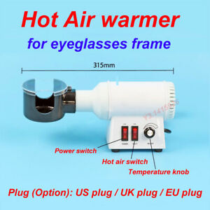 Hot Air Eyeglasses Frame Warmer Optical Frame Heater Temp adjustment Us uk eu
