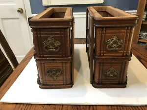 Antique Singer Treadle Sewing Machine 4 Cabinet Drawers Frames