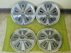 1966 Ford Mustang Spinner Hubcaps 14 Set Of 4 Wheel Covers 66 Hub Caps