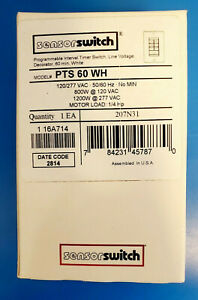 Sensor Switch Pts 60 Wh Programmable Interval Timer Switch 60 Min White